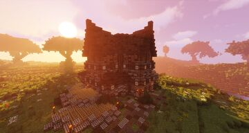 Medieval Village House + Free Download (Kingdom Style) Minecraft Map & Project