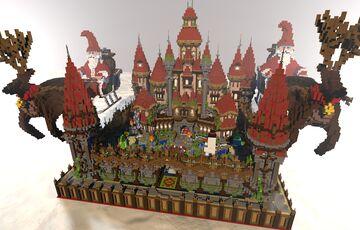 ⛄ [150x150] CHRISTMAS SPAWN ⛄ ► PHOENIXBUILDS Minecraft Map & Project