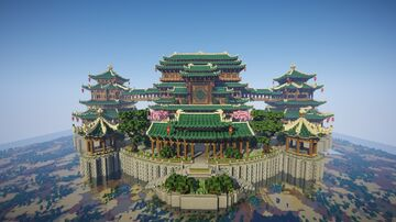 Chinese green palace Minecraft Map & Project