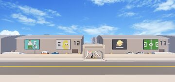 Hollywood Movie Studios including Family Guy and Simpsons House Minecraft Map & Project