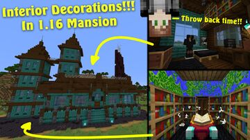 Throwback Interior Mansion!! Minecraft Map & Project