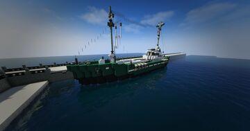 1940s Fishing Trawler, M.V. Marienetta Minecraft Map & Project