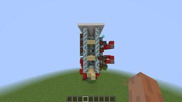 3 Block Elevator Minecraft Map & Project