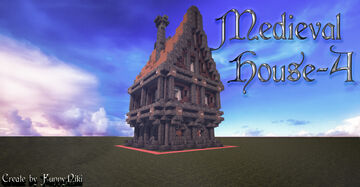 Medieval House №-4. Minecraft Map & Project