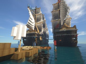 Ships Pirates 1v1 Minecraft Map & Project