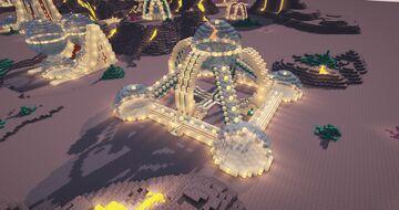 Minecraft Futuristic Base - Futuristic Base Build Timelapse - Futuristic World Download - 1.16 Minecraft Map & Project