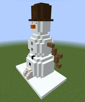 Snowman Tower Structure Minecraft Map & Project