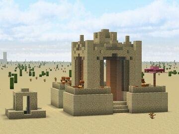 3:1 Desert Well Minecraft Map & Project