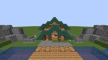 Dark Prismarine and Oak, small house. Minecraft Map & Project
