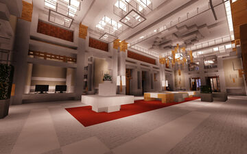 The Plaza Hotel (Lobby / First Floor / Shops) Minecraft Map & Project