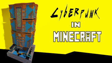 Cyberpunk Mega Structure Minecraft Map & Project