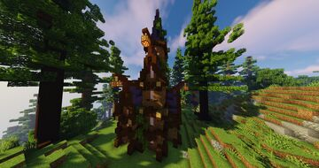 Elven tower house Minecraft Map & Project