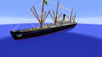 Cargo Ship S.S. SAO PAULO (1910) [FULL INTERIOR] Minecraft Map & Project