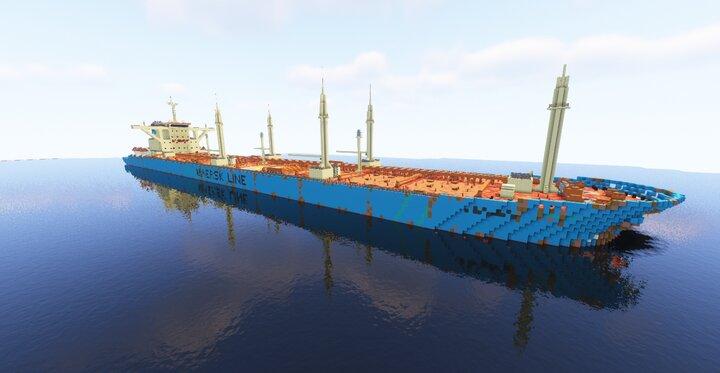 "Alternate weathered "" Maersk Line "" livery"