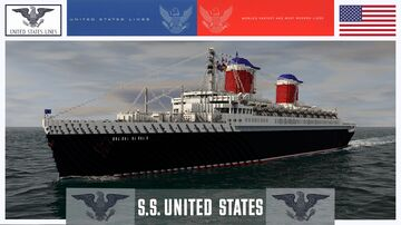 SS UNITED STATES - AMERICA's FLAGSHIP (1952) [FULL INTERIOR] Minecraft Map & Project