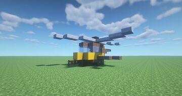 Steampunk Mini-Heli Minecraft Map & Project