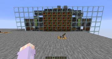 Flush with the wall 4x6 Piston Door (Triple Piston Extenders that move 12 blocks) Minecraft Map & Project