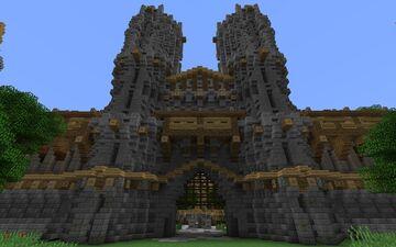 Medieval Fantasy Huge City Castle Gatehouse Minecraft Map & Project