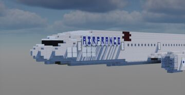 777-300ER Air France [1:1] Minecraft Map & Project
