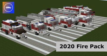 2020 Fire Department Vehicle Pack Minecraft Map & Project