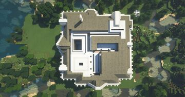 Plantation style house-Gone with the Wind inspired Minecraft Map & Project
