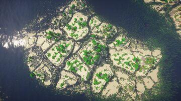 Bees Seas - Custom Terrain Survival Map Minecraft Map & Project