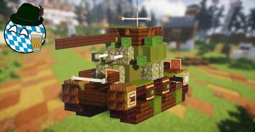 Pvkv II (7,5cm) (2:1 Scale) Minecraft Map & Project
