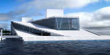 Oslo National Opera & Ballet // +Full interior & Download Minecraft Map & Project