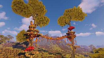 Treehouse Nr.2 | Download here | Watch Timelapse Minecraft Map & Project