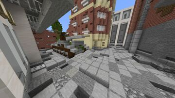 Soviet T-34 Prepares to break through Brick Wall Minecraft Map & Project