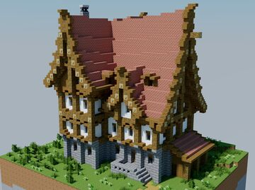 Medieval fantasy inn. (With interior) Minecraft Map & Project
