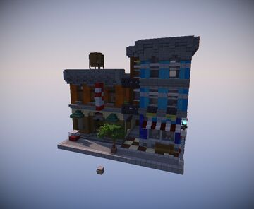 """LEGO Modular """"Detective's Office"""" Recreation Minecraft Map & Project"""
