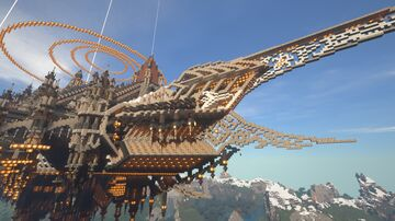 Aredzar - A massive Capital Airship Minecraft Map & Project