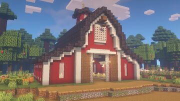 Red Barn and farm Minecraft Map & Project