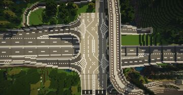 An efficient highway entry Minecraft Map & Project