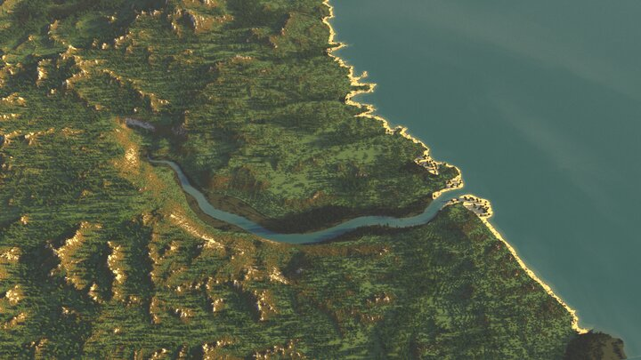 The River Tyne and the extent of the map above it Northumberland