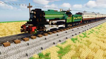 "LNER Class V2 ""Green Arrow"" Minecraft Map & Project"