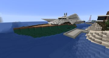 Mid Sized Yacht Minecraft Map & Project