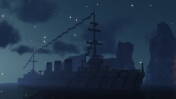 Imperial Japanese Cruiser - IJN Tenryu Minecraft Map & Project