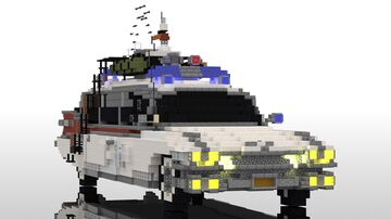 Ghostbusters Cadillac Miller-Meteor Ecto1 | 10:1 car Minecraft Map & Project