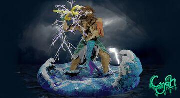 Minecraft Organic-Poseidon & Mermaid Minecraft Map & Project