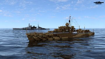 HMS Poop Ship 1:1 Scale Minecraft Map & Project