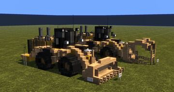 CAT 990K Millyard Arrangement & Wheel Loader Minecraft Map & Project