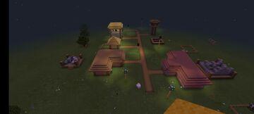 sadxddd Village ft.Fanaticwheel Bedrock Edition Minecraft Map & Project