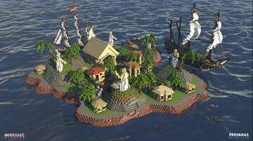 100x100 SkyBlock Spawn  -FreyjaBuilds Minecraft Map & Project