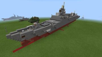 1:2 scale Admiral Gorshkov class frigate Minecraft Map & Project