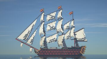 Spanish Ship of the Line Minecraft Map & Project