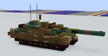 K2 Black Panther(1.5:1 scale) Minecraft Map & Project