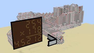 8-bit Redstone Calculator Minecraft Map & Project