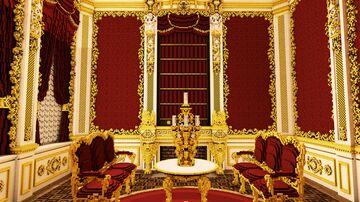 Red cabinet [Updated Rococo Hall] | Interior Minecraft Map & Project